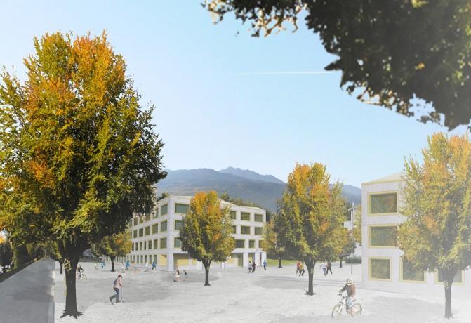 Centre scolaire à monthey troisplusarchitectes sa bureau d